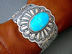 Native American Sterling Silver Turquoise D Usa