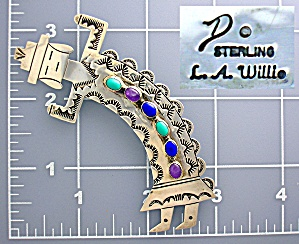 Sterling Silver Amethyst Turquoise lapis L.A. Willey Pi (Image1)