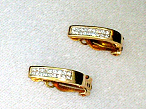 Earrings Diamond 14K Yellow Gold Clip  (Image1)
