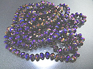 Crystal Purple Faceted Necklace 84 Inches