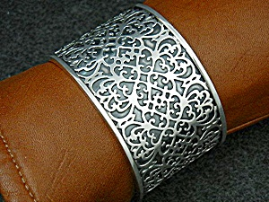Silpada Sterling Silver Filigree Cuff Bracelet Retired (Image1)