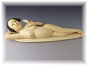Ivory Pre Ban Finely Carved Japanese Doctor Lady
