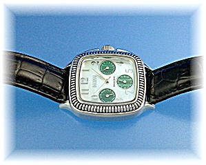 Sterling Silver Ladies Ecclisi Wristwatch Leather Band (Image1)