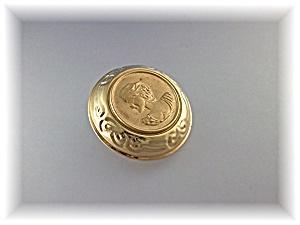 14K Gold  Cameo Omega Pendant Slide  (Image1)