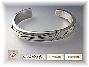 Native American 14K Gold Sterling Silver Jimmie King Jr (Image1)