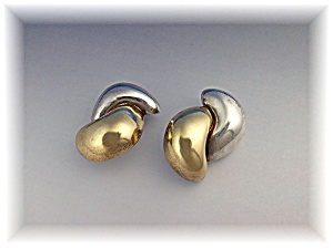 Earrings Sterling Silver Gold SIMON SEEBAG Clips (Image1)