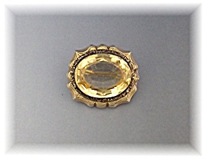 Brooch Pin Victorian Citrine Colored Stone C Clasp (Image1)