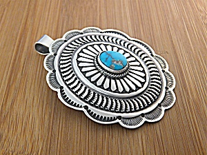 Sunshine Reeves Sterling Silver Turquoise Pendant USA (Image1)