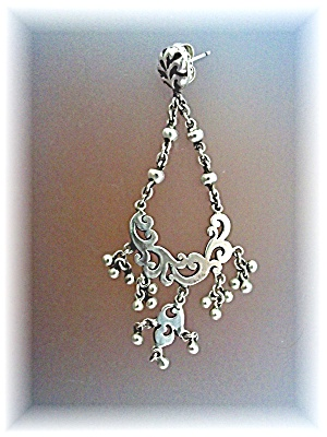Earrings Sterling Silver Dangle Silver Balls LP (Image1)