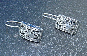 Sterling Silver Shepherd Hook Earrings Thailand