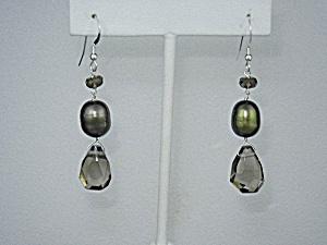 Southsea Pearl Crystal Sterling Silver Shepherd Hook Ea (Image1)
