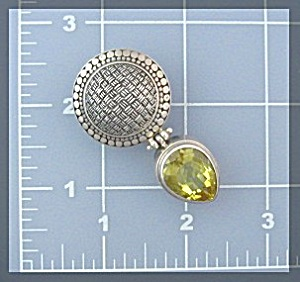 Sterling Silver Tear Drop Lemon Citrine Pendant (Image1)