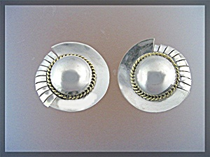 Sterling Silver TP-59 Clip Earrings Mexico (Image1)