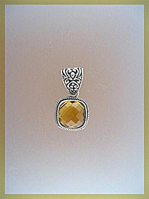 Pendant Sterling Silver Golden CITRINE  (Image1)
