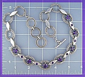 Sterling Silver Amethyst Necklace Peggy V Designs (Image1)