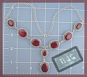 Sterling Silver Genuine Ruby Necklace (Image1)