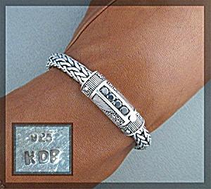 Bracelet Sterling Silver Natural Black ZirconPeggy V   (Image1)