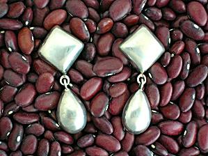 Earrings Sterling Silver Sheila TC 137 Mexico Teardrop  (Image1)