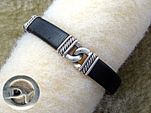 DAVID YURMAN Sterling Silver Leather Bracelet Bali (Image1)