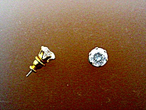 Earrings 14K Gold 2ct TW Lab Created Diamond  (Image1)