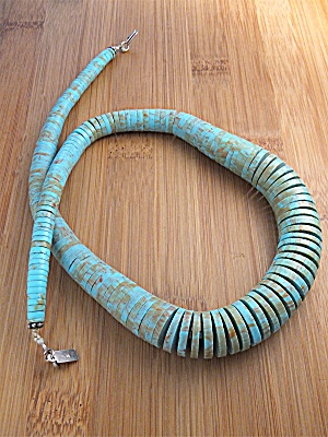 Necklace Kingman Turquoise Old Pawn Cm Usa