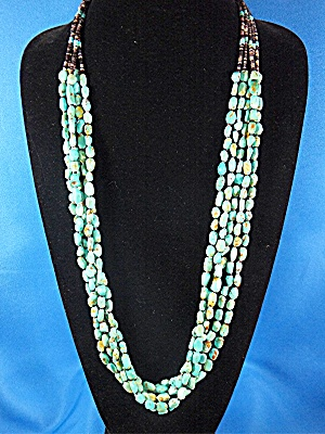 Necklace Kingman Turquoise Santo Domingo Sarah Leekeya  (Image1)