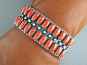 KIRK SMITH Mediterranean Coral Sterling Silver Bracelet (Image1)