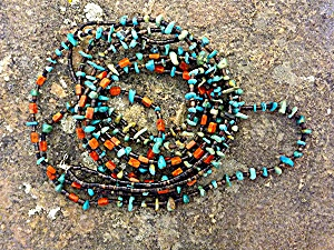 Necklace Spiny Oyster Turquoise Heishi Santo Domingo  (Image1)