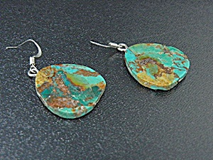 Native American Sterling Silver Turquoise Earrings (Image1)