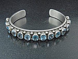 DAN DODSON Sterling Silver Blue Topaz Bracelet (Image1)
