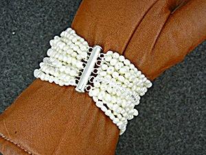Freshwater Pearls Crystal 15 Strands Bracelet (Image1)