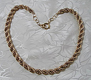 Necklace 14K Gold Rope Chain 105 grams Signed SUCCO (Image1)
