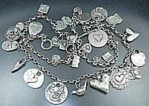 Jes Maharry Silver Charms Sundance  Necklace 32 Inches (Image1)