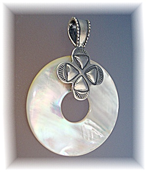 Pendant Sterling Silver mother Of Pearl (Image1)