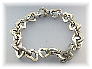 TIFFANY Linked Hearts Sterling Silver 2000 Bracelet  (Image1)