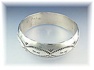 Native American Sterling Silver Bangle W. Bahe (Image1)