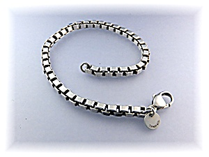 Bracelet Sterling Silver Tiffany Box Link 8 Inch