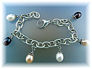 Bracelet Sterling Silver 10mm Freshwater Pearls (Image1)