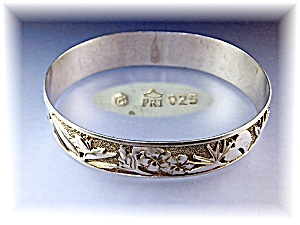 Sterling Silver Bird Of Paradise Hawaii Bangle (Image1)