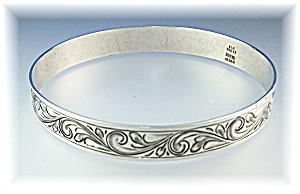 Bangle Bracelet Sterling Silver Mexico Elk Creek (Image1)