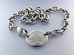 Necklace Tiffany Sterling Silver Chain Lobster Clasp (Image1)