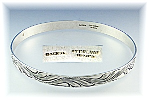 Bracelet  Elk Creek Mexico Sterling Silver Bangle (Image1)