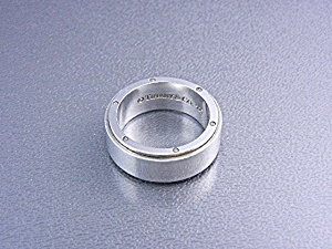 TIFFANY & Co Sterling Silver Mans Band Ring (Image1)