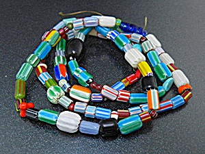 Native American Multi Color Glass Trade Beads 28 Inches