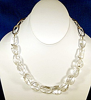 Crystal Quartz Necklace Silver Toggle Clasp. (Image1)