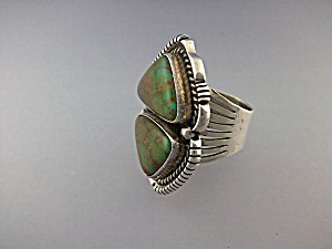 Carico Lake Turquoise Sterling Silver Ring G Spencer (Image1)