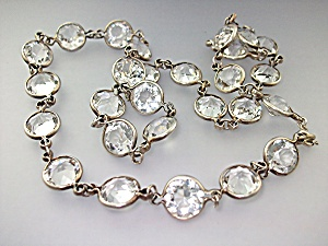 Necklace Rock Crystal Antique Silver Links (Image1)