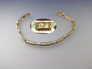 Bracelet 10K Gold and Diamond Tennis Bracelet (Image1)