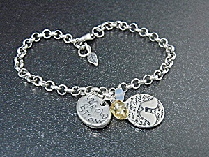 Jess MaHarry Sterling Silver Grow Strong Bracelet (Image1)