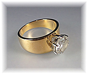 Ring Gold Electroplate 2ct CZ Ring (Image1)